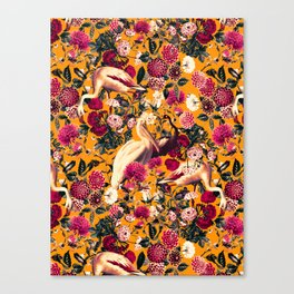 FLORAL AND BIRDS XVI Canvas Print