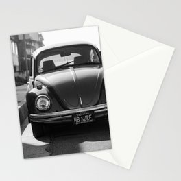 Hermosa Beach Surf Bug, Black and White Photography Print, Beach Art, South Bay Los Angeles Art Stationery Cards