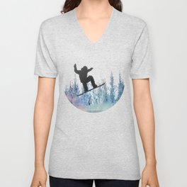 The Snowboarder: Air Unisex V-Neck