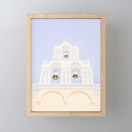 484. Some Bells, Fira, Santorini, Greece Framed Mini Art Print