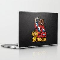 hockey Laptop & iPad Skins featuring HOCKEY by solomnikov