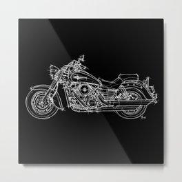Black Kawasaki Vulcan 1600 Metal Print