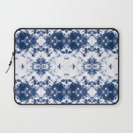 Shibori Tie Dye 3 Indigo Blue Laptop Sleeve