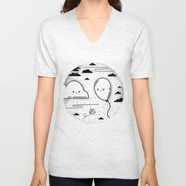 Floaty Love Unisex V-Neck