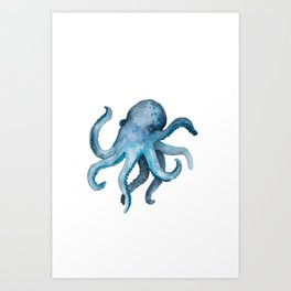 Blink the Octopus Art Print