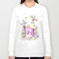 literary Long Sleeve T-shirts featuring Literary Fort by Genevieve Santos