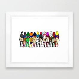 Superhero Butts - Girls - Row Version - Superheroine Framed Art Print