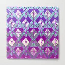 geometric vibrants  Metal Print