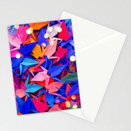 Senbazuru | pink and blues Stationery Cards