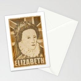 Elizabeth Queen Of England Propaganda Poster Pop Art Stationery Cards