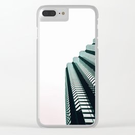 chicago look up architecture urban photography Clear iPhone Case