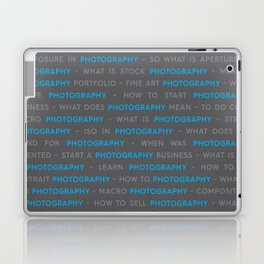 Blue Photography Keywords Marketing Concept Laptop & iPad Skin