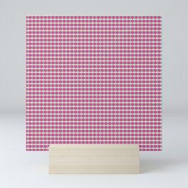 Organized dots pink blue green Mini Art Print