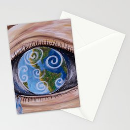 Anthropogenic Sea Level Rise Stationery Cards