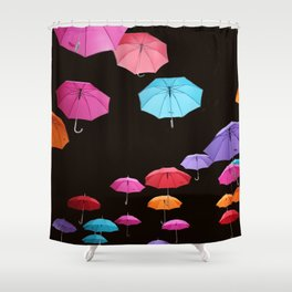 Umbrellas number 1 Shower Curtain