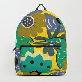 Fresh lemons and flowers Backpack