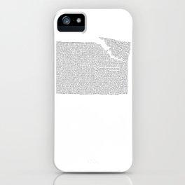 Erosion & Typography 2 iPhone Case
