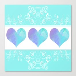 Design of Hearts Canvas Print