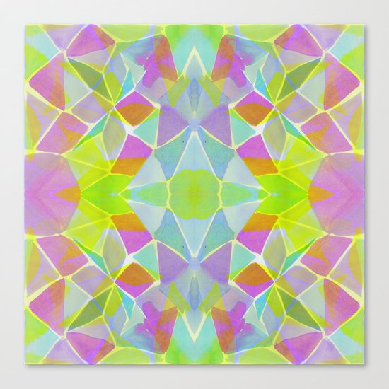 Chroma Lime Canvas Print