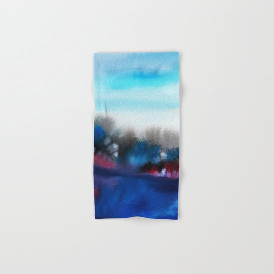 Watercolor abstract landscape 25 Hand & Bath Towel