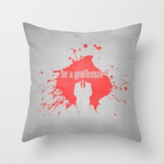 be a gentleman Throw Pillow