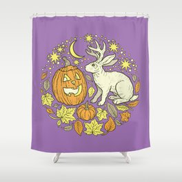 Halloween Friends | Spooky Brights Palette Shower Curtain