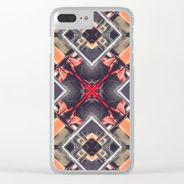 Orange Automotive Abstract Clear iPhone Case