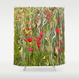 Poisoned Poppies Shower Curtain