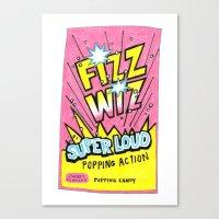 wiz khalifa Canvas Prints featuring Fizz Wiz! by Love Paint UK