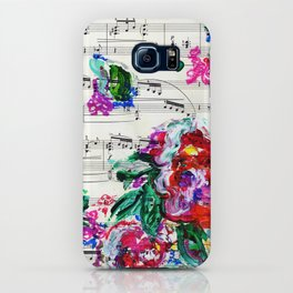Musical Beauty - Floral Abstract - Piano Notes iPhone Case