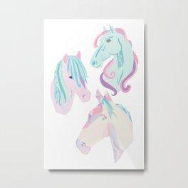 pastel horses Metal Print