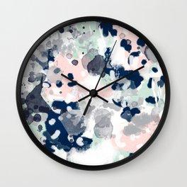Tate - abstract modern minimal painting art nursery baby office home decor minimalist modern nursery Wall Clock