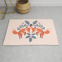 A Pair of Pouncing Fox Rug