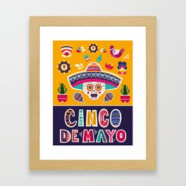 Cinco de Mayo – Scull Framed Art Print