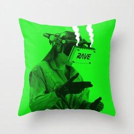VR Rave Throw Pillow
