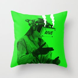 VR Rave Throw Pillow