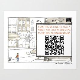 QR Codes Art Print