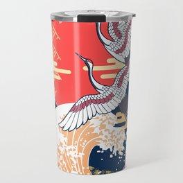 Moon and Crane Travel Mug