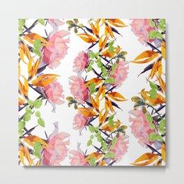 Lush Watercolor Florals v2. Metal Print