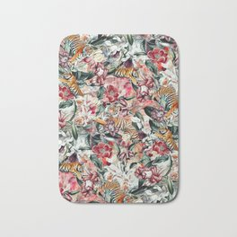 Tigers and Flowers Bath Mat