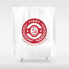Fight Communism Freedom Red Shower Curtain