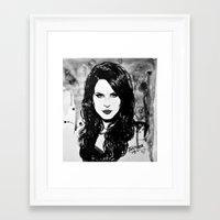 lana Framed Art Prints featuring Lana by Louise des Jam