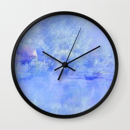 Hometown Celle in blue Wall Clock