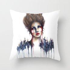 Burn // Fashion Illustration Throw Pillow