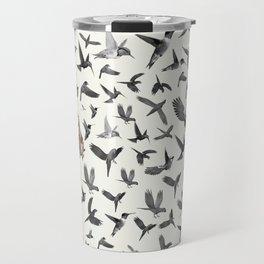 Barcelona Summer Bird Lady Travel Mug