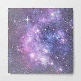 Space Frontier - Purple Metal Print