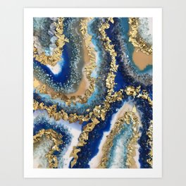 Geode Resin Painting Kunstdrucke