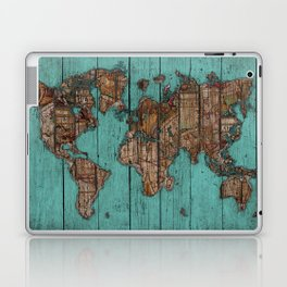 Wood Map Laptop & iPad Skin