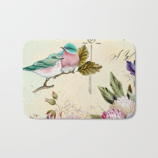 Sweet birds #4 Bath Mat
