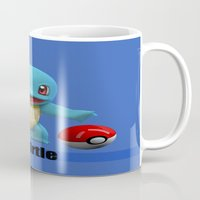 squirtle Mugs featuring Squirtle by Yamilett Pimentel